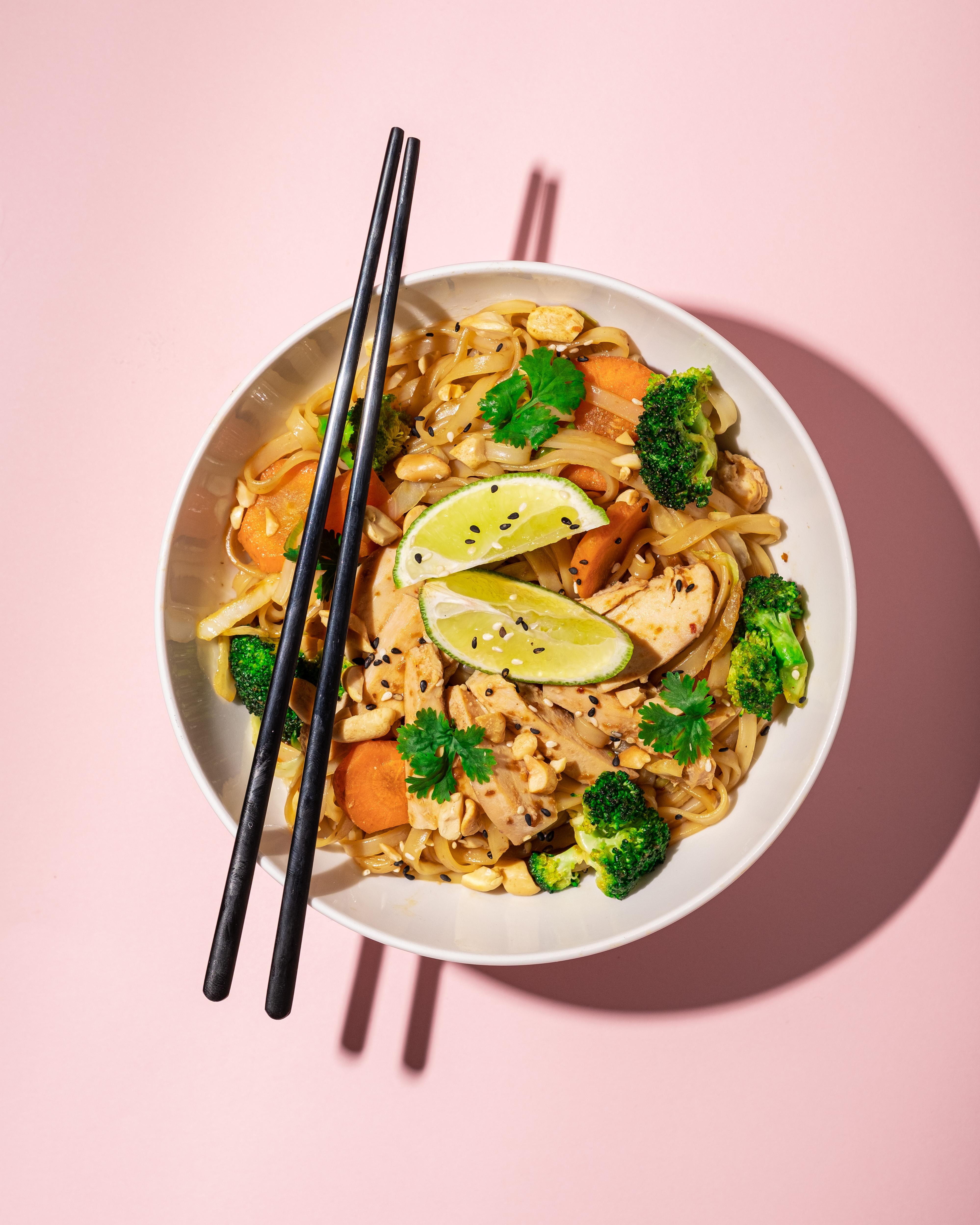 Teriyaki Noodles Tempeh Vegan