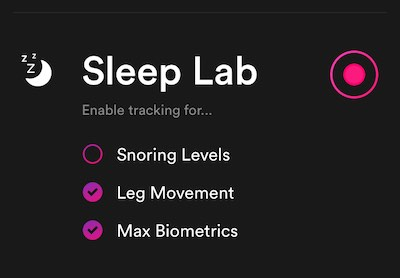 Sleep lab Recording Options