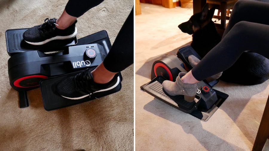 Cubii Pro with Heeled Shoes and sneakers