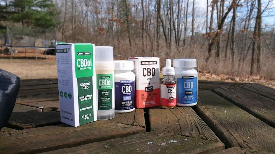 sample of cbd product line