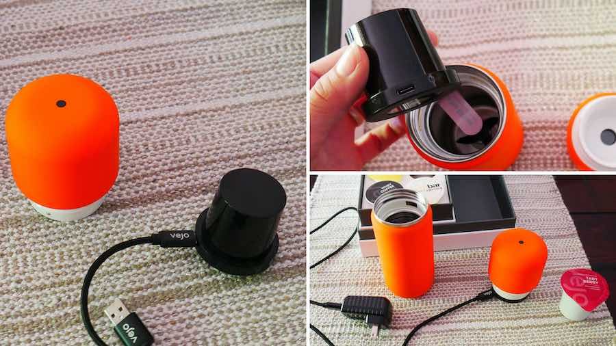 Steps to charge the vejo