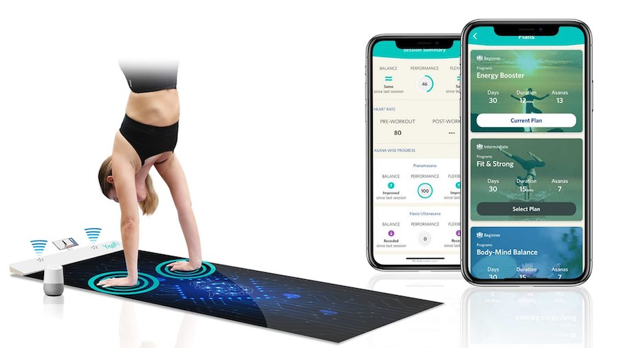 yoga mat sensors on YogiFi and App