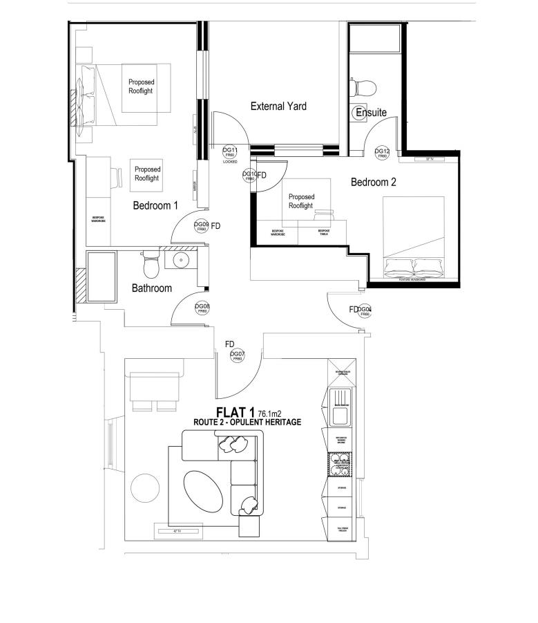 Flat 1 2bed floorplan