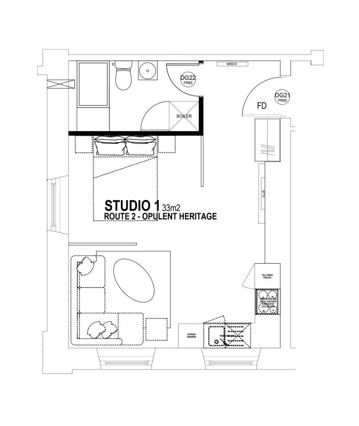 Studio 1 Floorplan