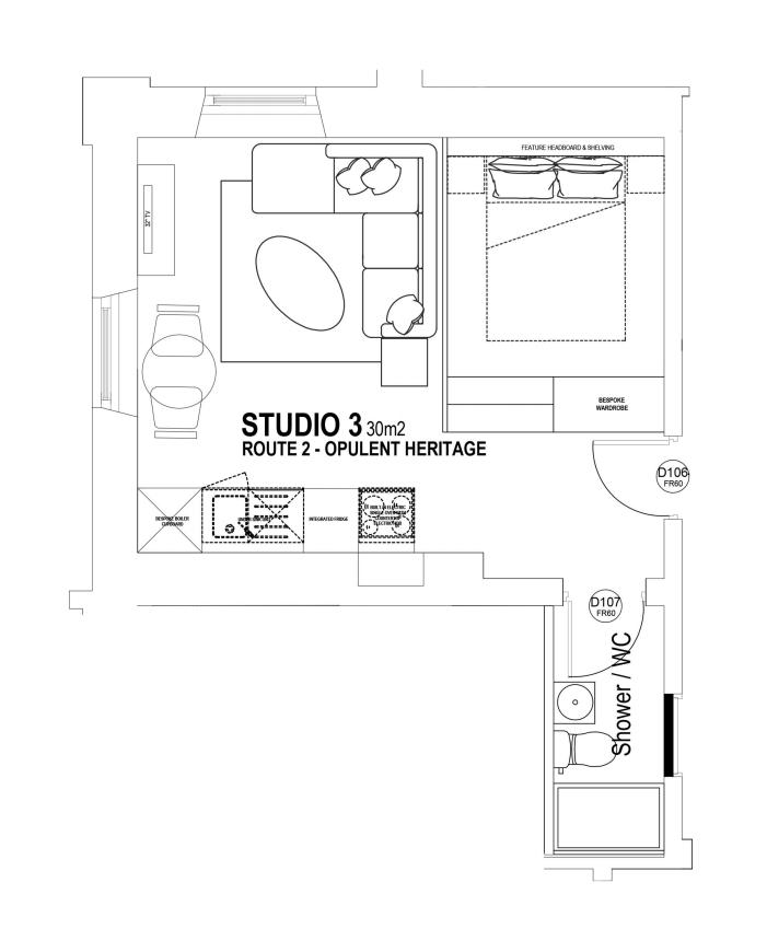 Studio 3 floorplan