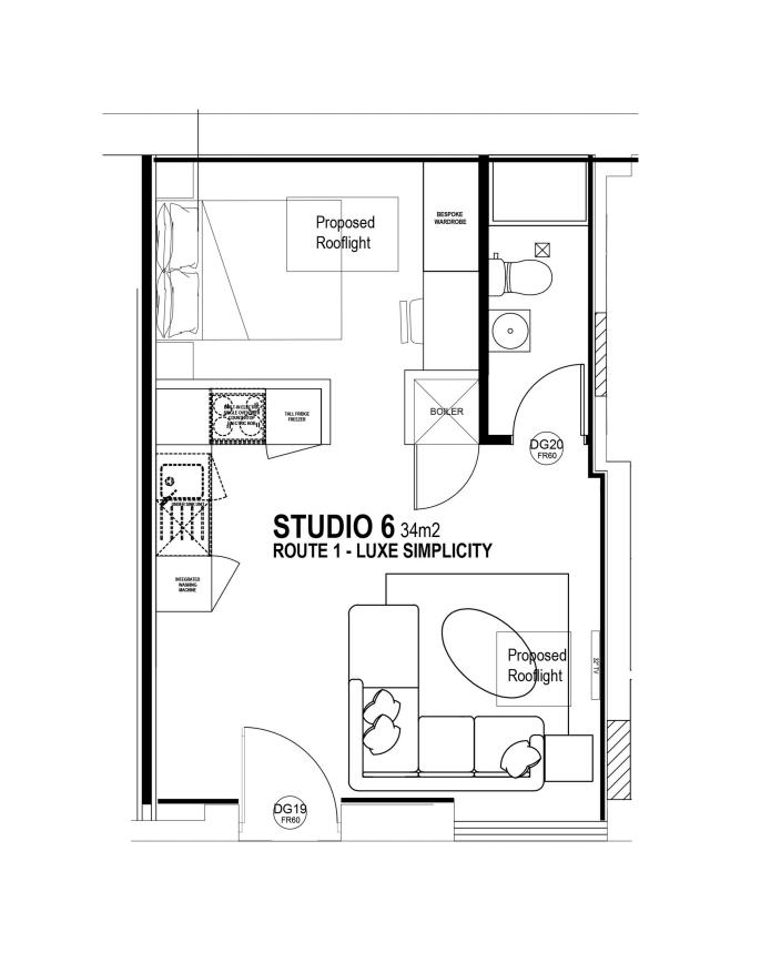 Studio 6 floorplan