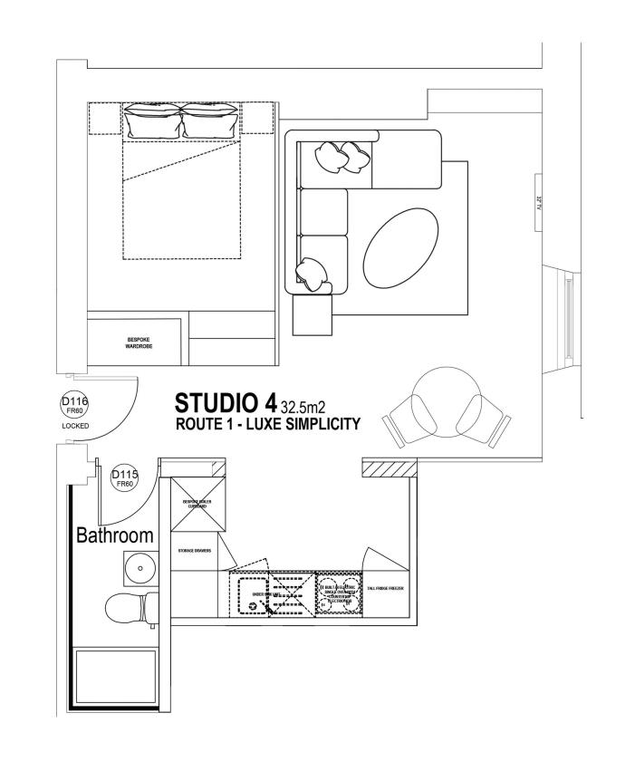Studio 4 floorplan