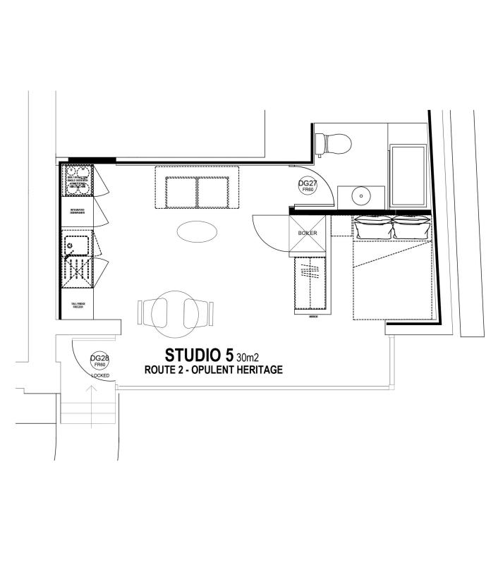 Studio 5 floorplan