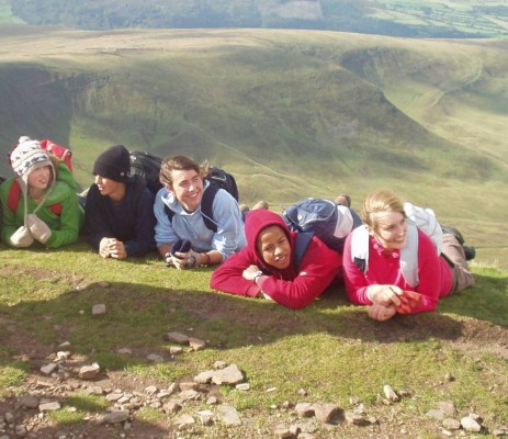 A group of pupils at Trewern, on the Papertrail blog