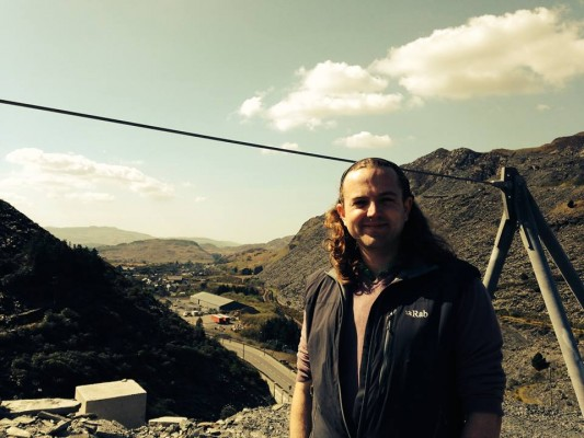 Papertrail CEO Ben Scholes at Zip World Titan