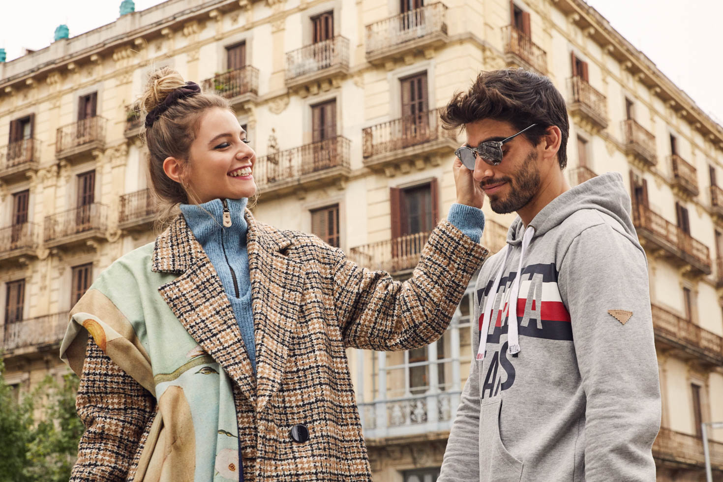 For the new AW20 Privata campaign, the brand and us thought it was important to support our struggling cities and their people. Therefore it was important to have a friends story within the city, showing a positive mood and an enjoy life attitude.