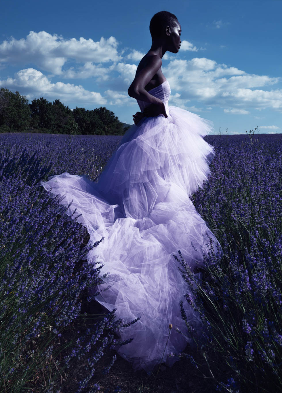 The countryside is the new black. Shot in the lavender fields of Avignon. This editorial for Elle needed to show the new freedom we were facing while showing the color and garment trends of the new season. Photography by Elena Iv-Skaya.