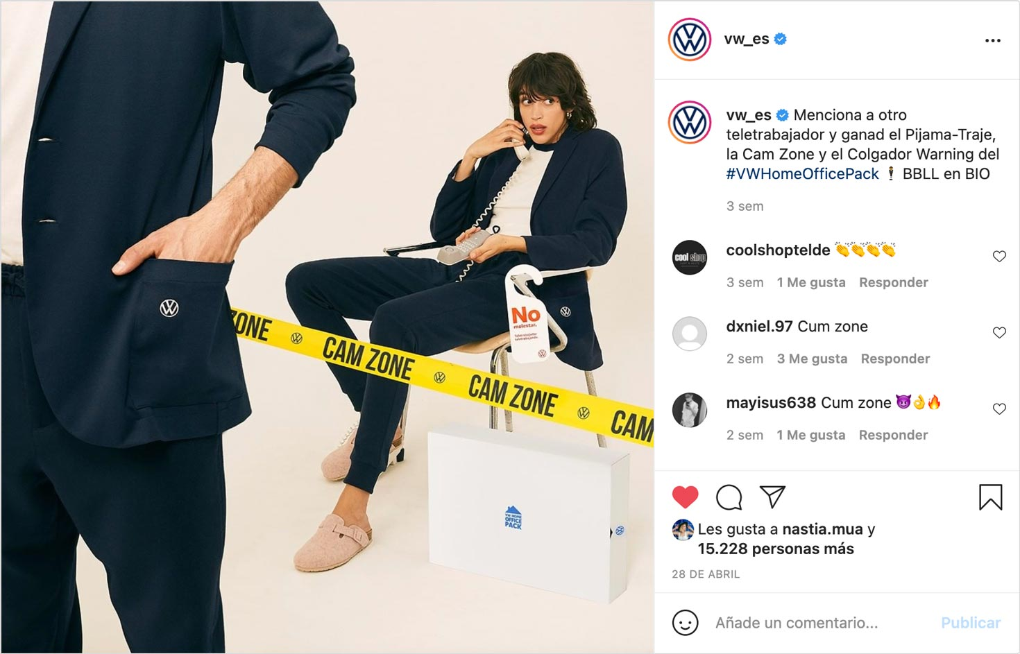 Volkswagen contacted us as consultancy and producers on how to show their brand new product: The Pijama Suit. A comfy suit for working at home while having tons of video calls. It was acompanied by other elements called the Home Office Pack.
