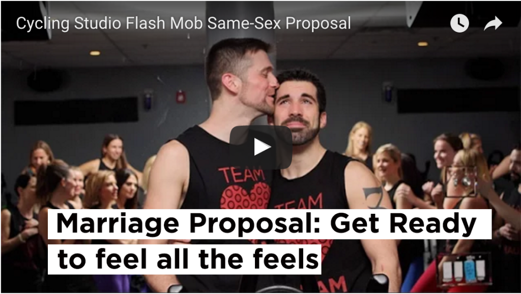 gay marriage proposal spin class