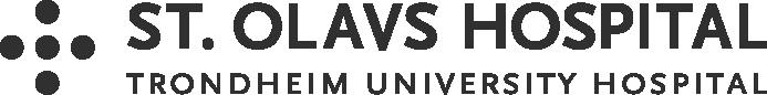 The logo of St. Olavs Hospital in a dark color