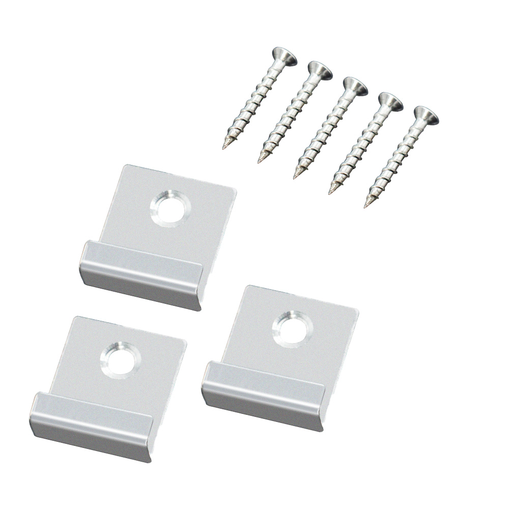 Box of 50 Stainless Steel Starter Clips and Screws