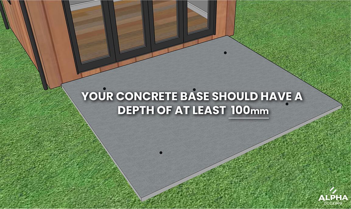 Alpha Composite Decking laid on concrete