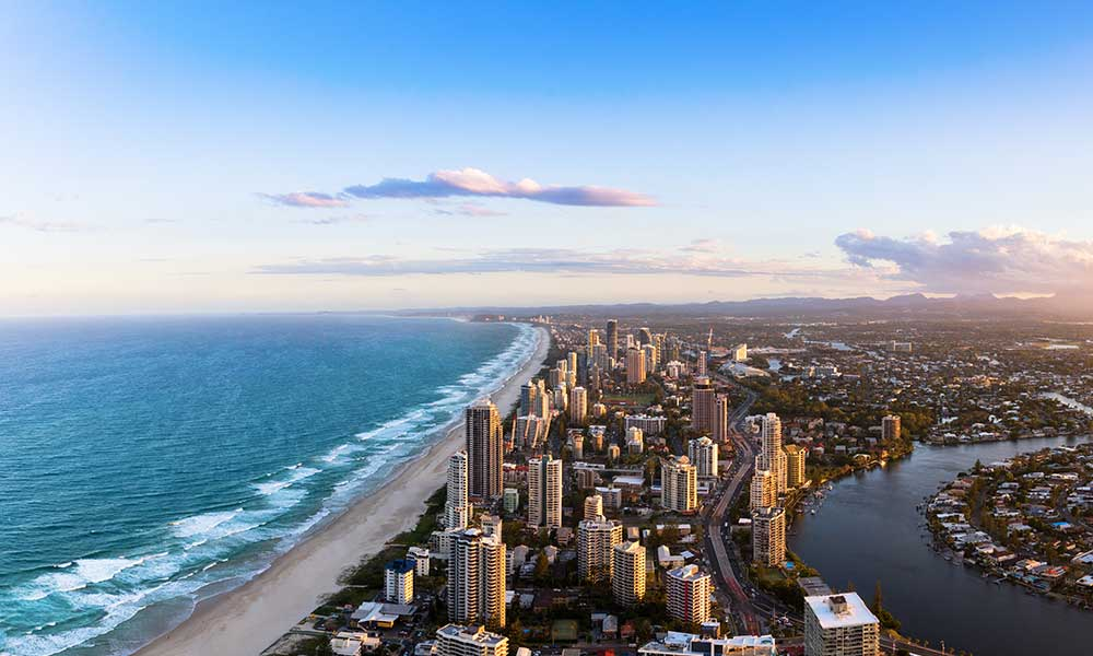 Gold coast from a drone