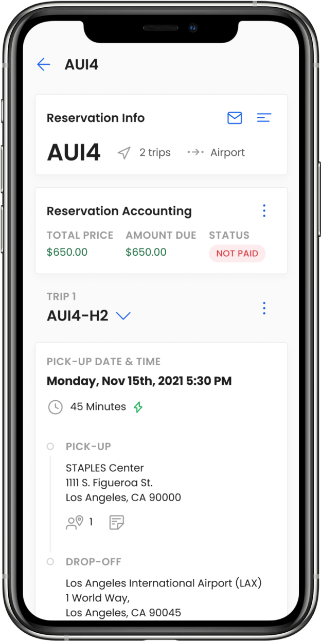 Mobile and desktop view of Moovs Application