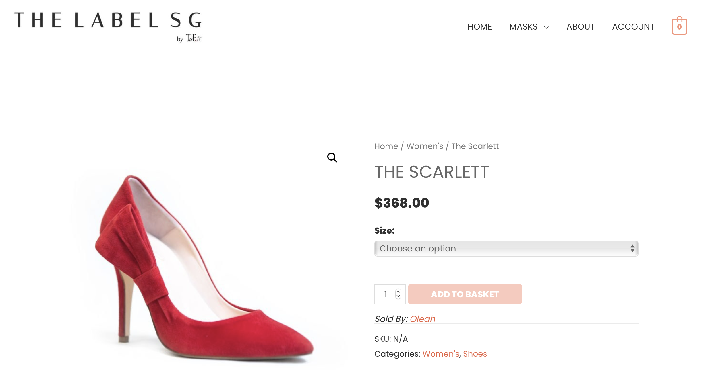 THE LABEL SG | Oleah's Shoe | The Scarlett