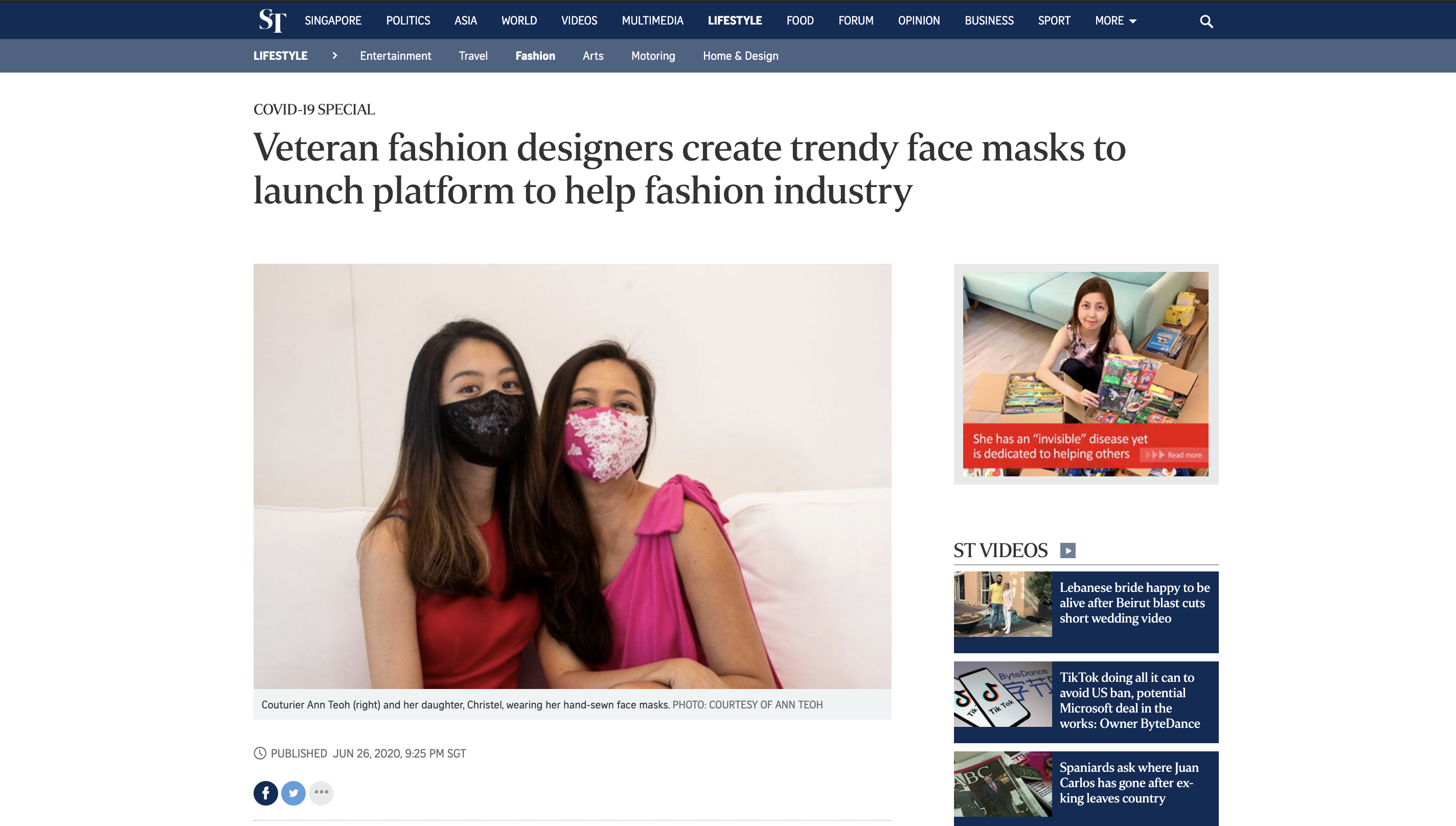 Veteran fashion designers create trendy face masks to launch platform to help fashion industry