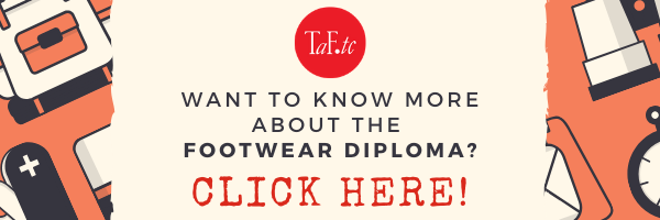 Banner for the Footwear Diploma. Click here to learn more about the Footwear Diploma