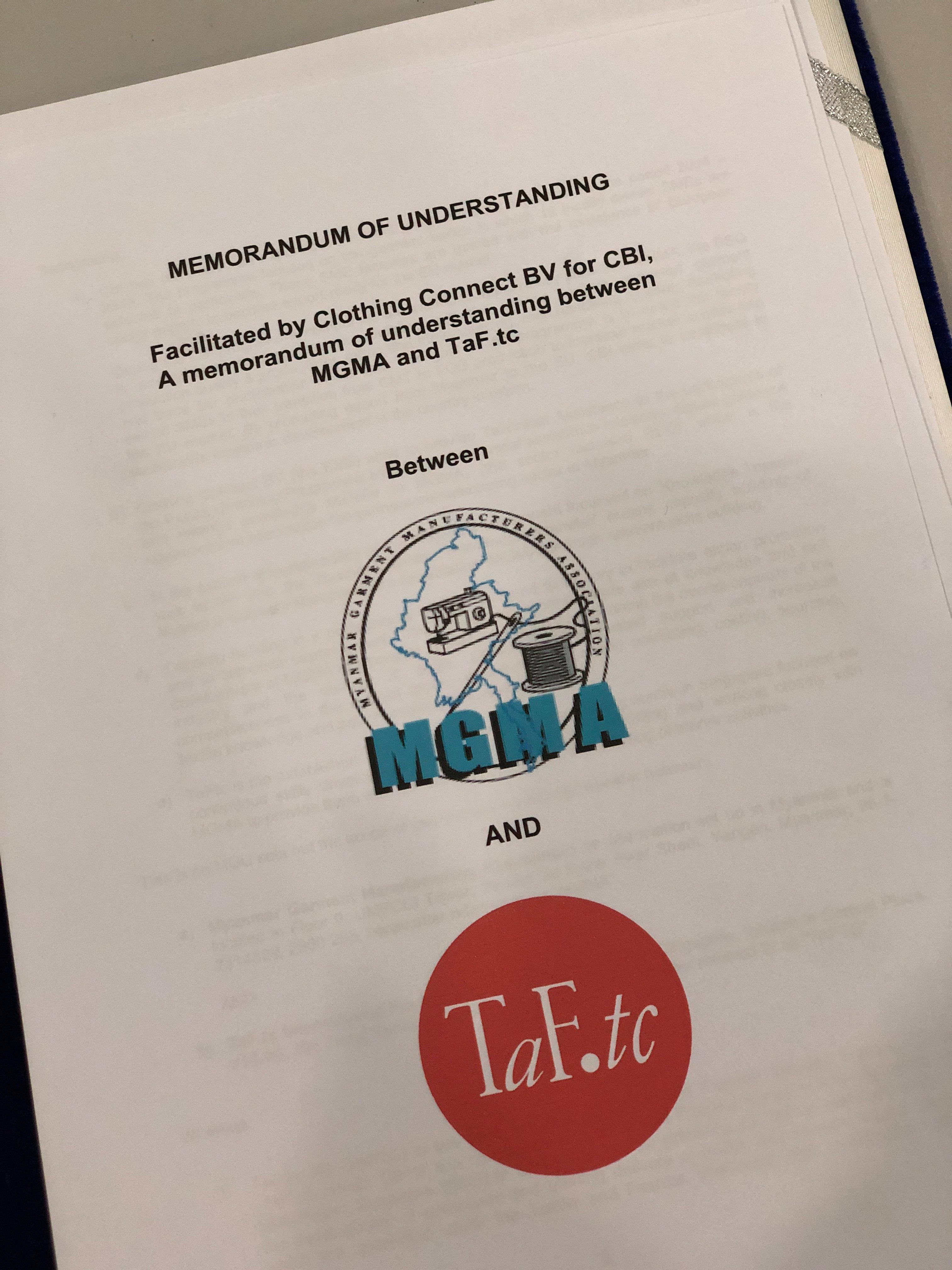 TaF.tc, MGMA, and CBI sign an MOU
