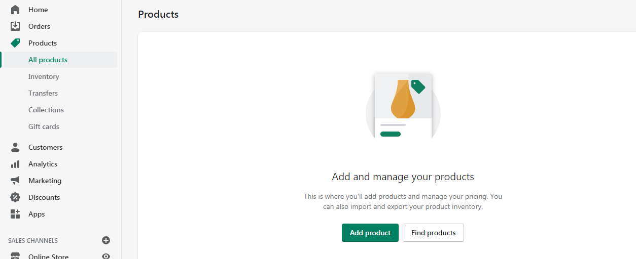 Add products to your store!