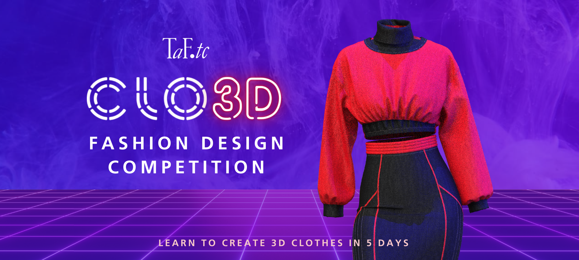 CLO-3D Fashion Design Competition 2021 Banner