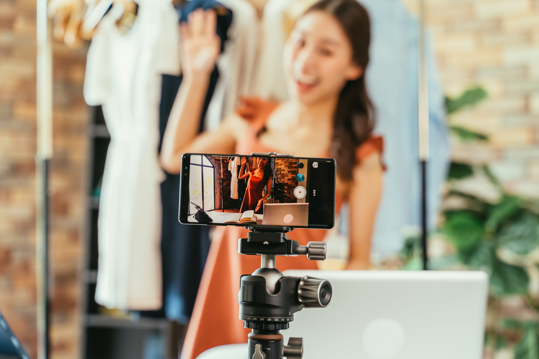 Fashion Influencer Recording Video