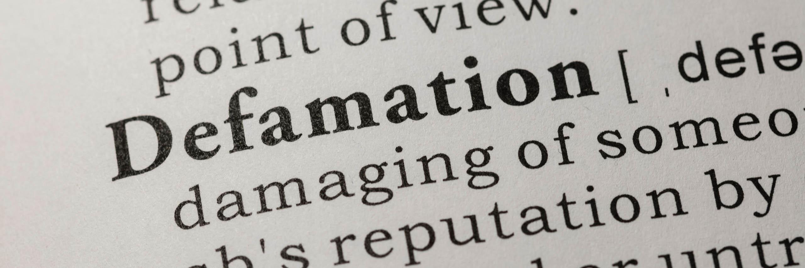 Defamation (Slander & Libel)