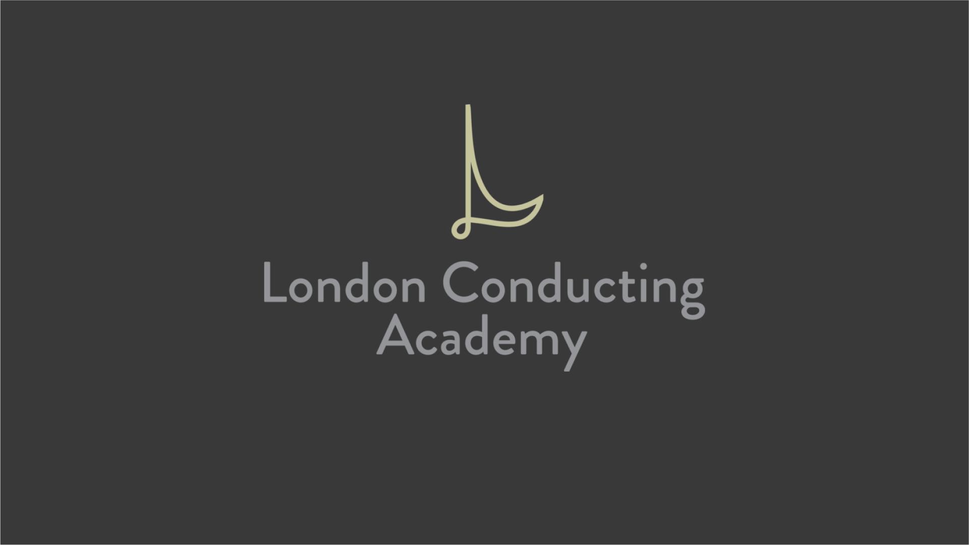 London Conducting Academy Logo on a dark background