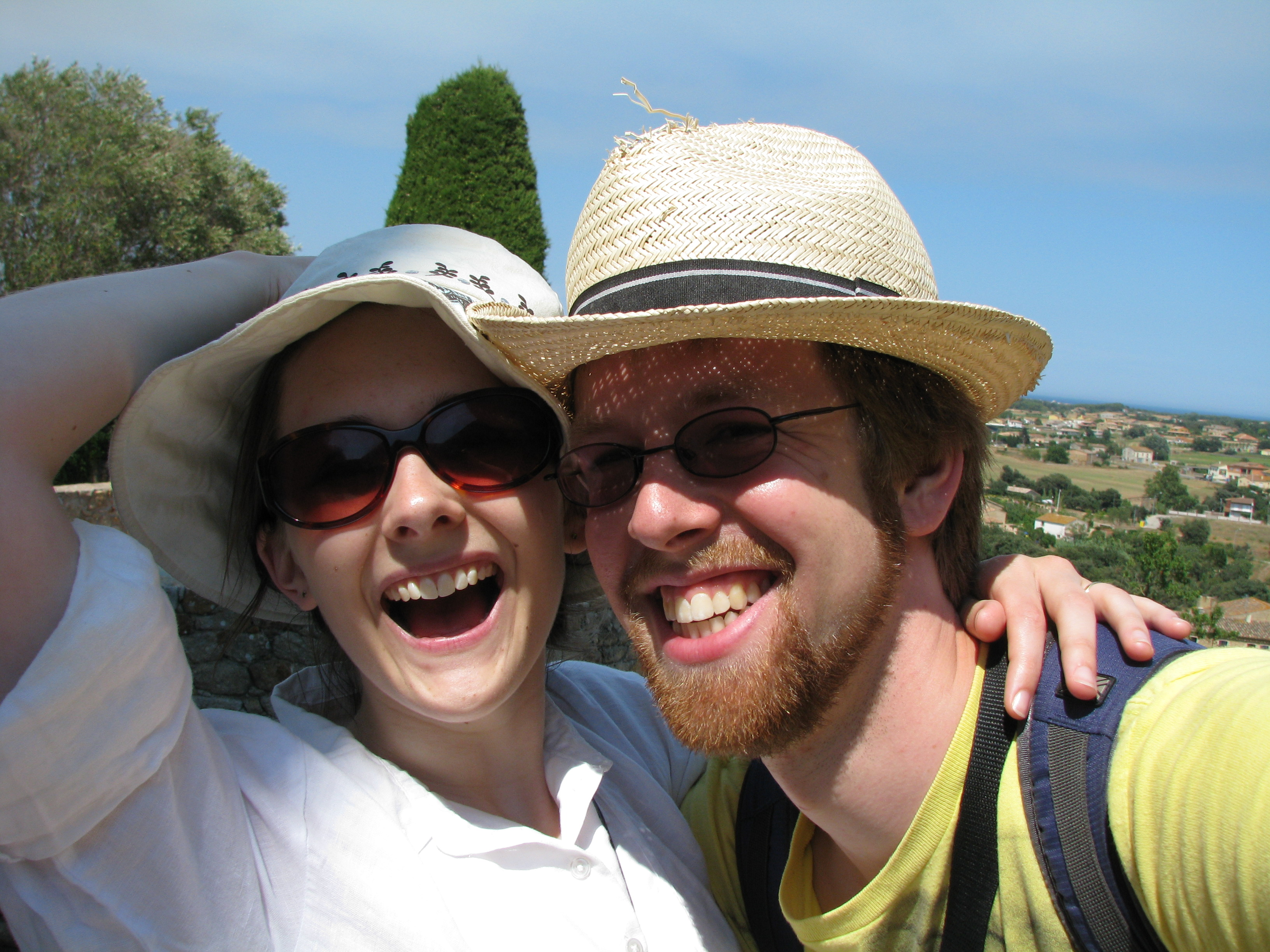 A happy photograph of Bethan and Ed