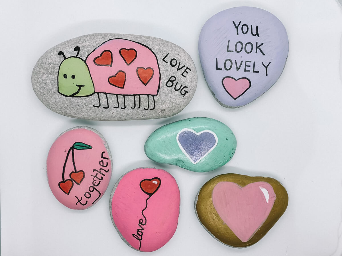Mother of Grom Valentines . Love Rock Painting Love !