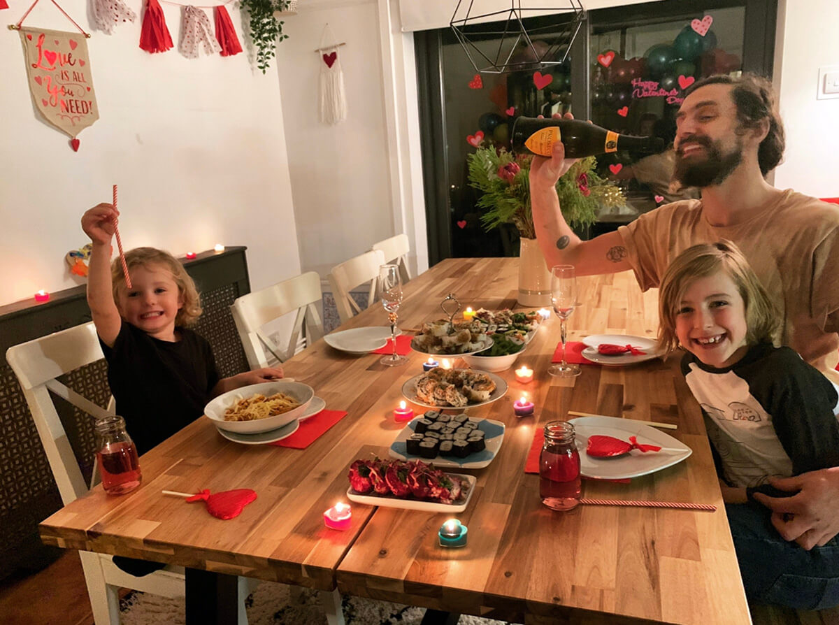 Mother of Grom Valentines . Candlelit Dinner !