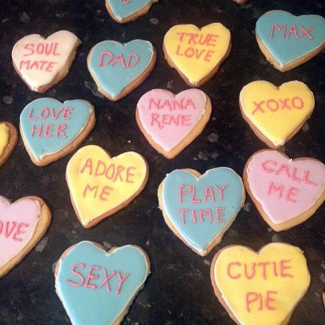 Mother of Grom Valentines - Baked Love Cookies !