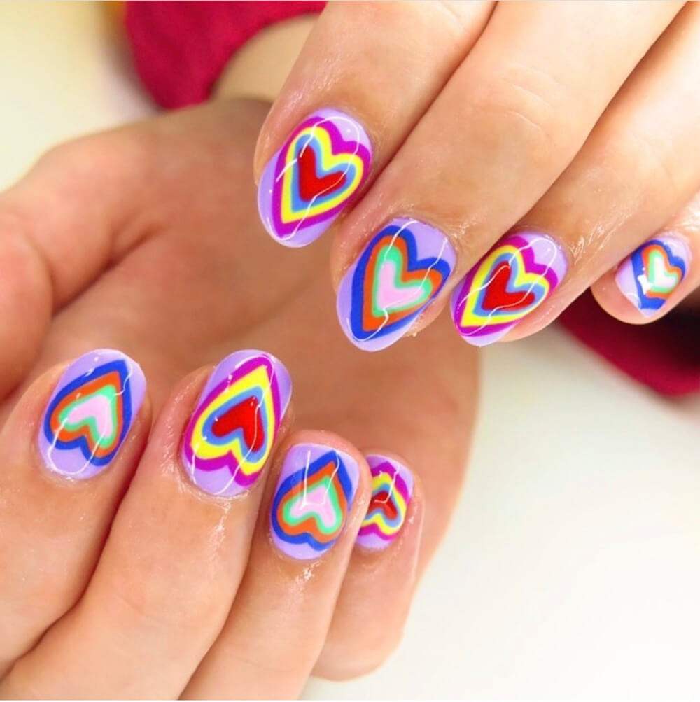 Mother of Grom Valentines . Heart Nails !