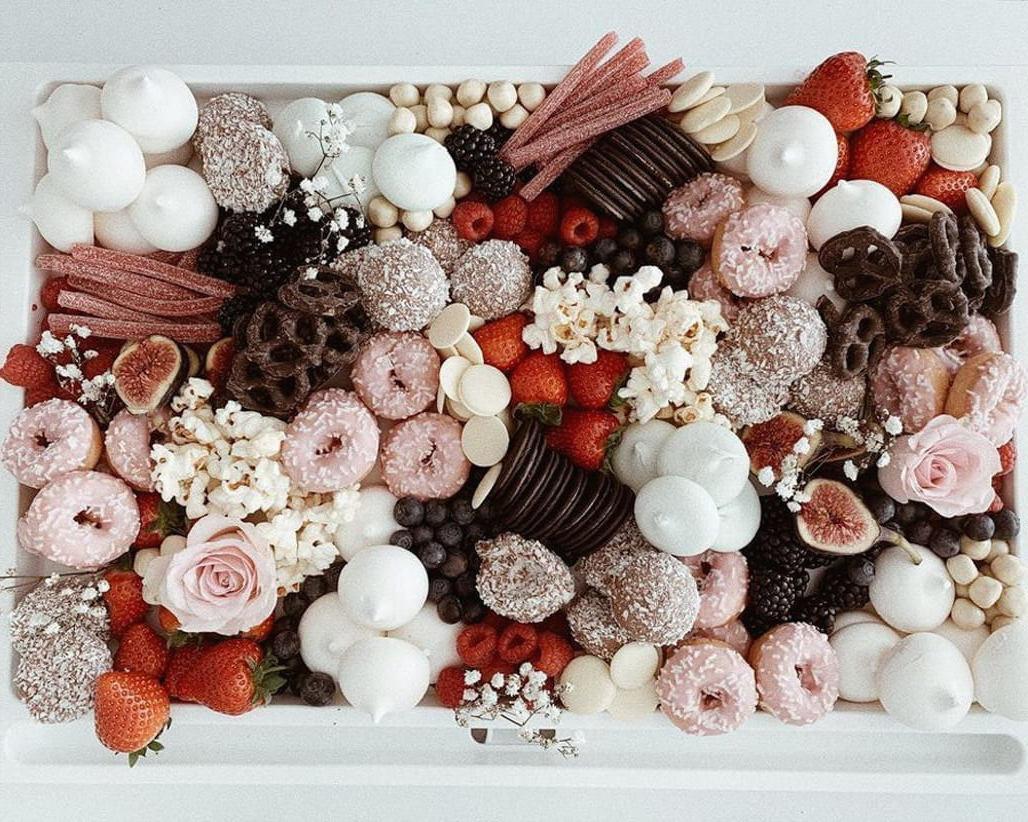 Mother of Grom Valentines . Valentine Dessert Grazing Platter !