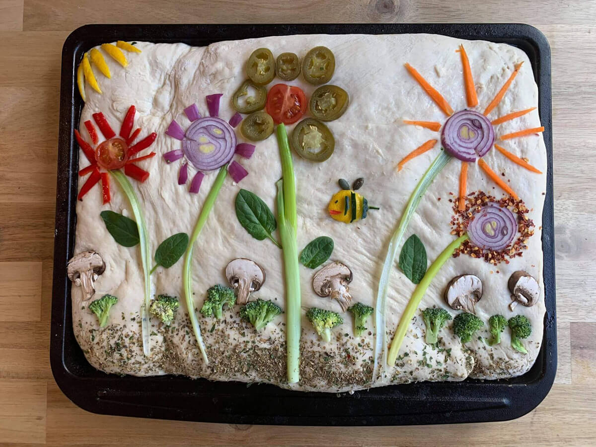 Mother of Grom - Floral Focaccia Botanical Bread