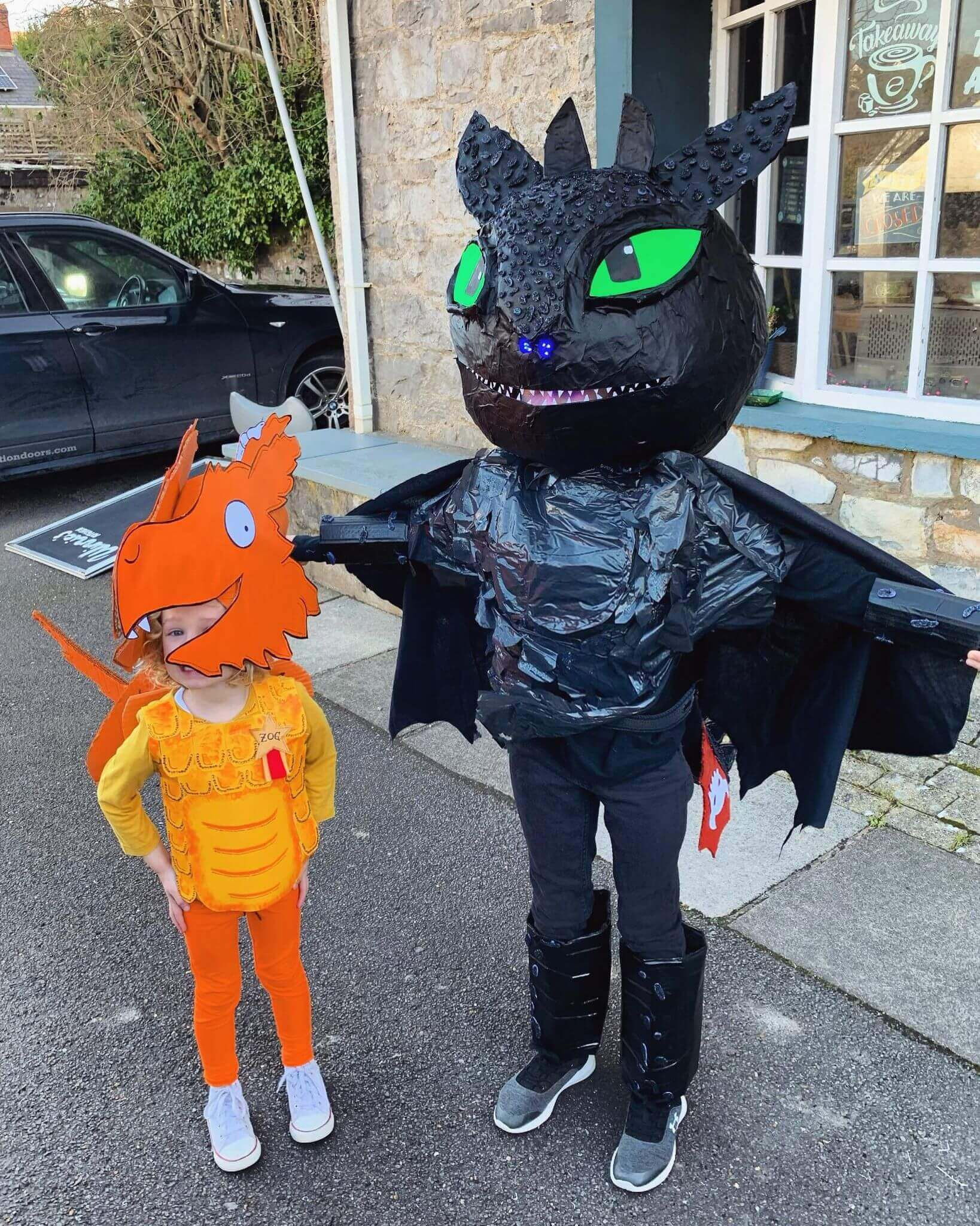 Mother of Grom - Zog Costume and Toothless Costume