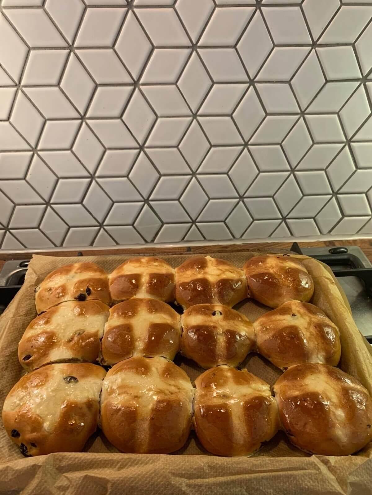 Mother of Grom - Vegan Hot Cross Buns