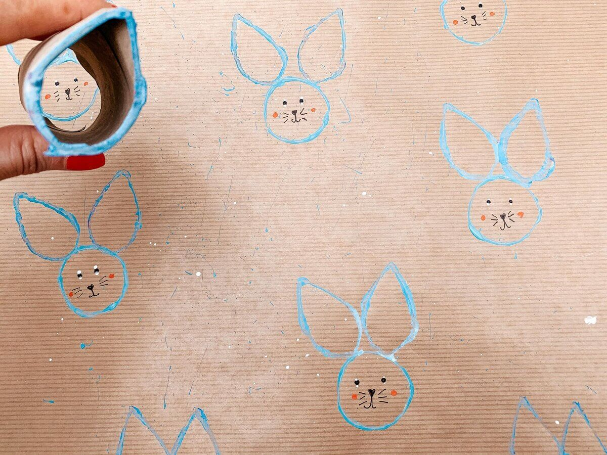 Toilet Roll Printing For Easter 1 - Mother Of Grom