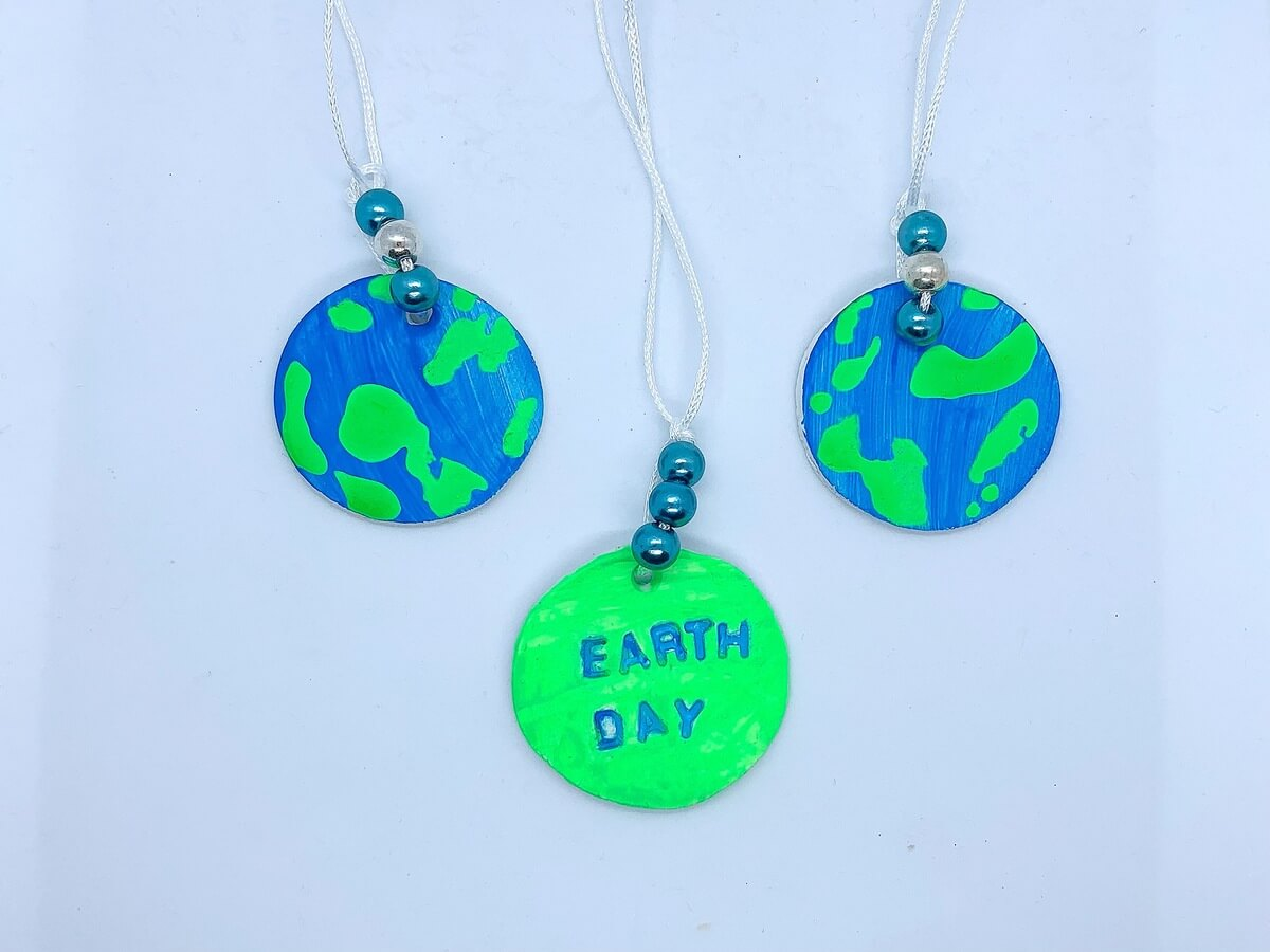 Salt Dough Earth Day Necklaces - Mother Of Grom