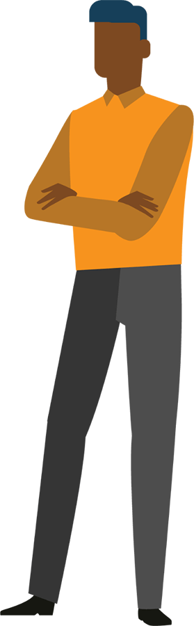 engin orange man illustration