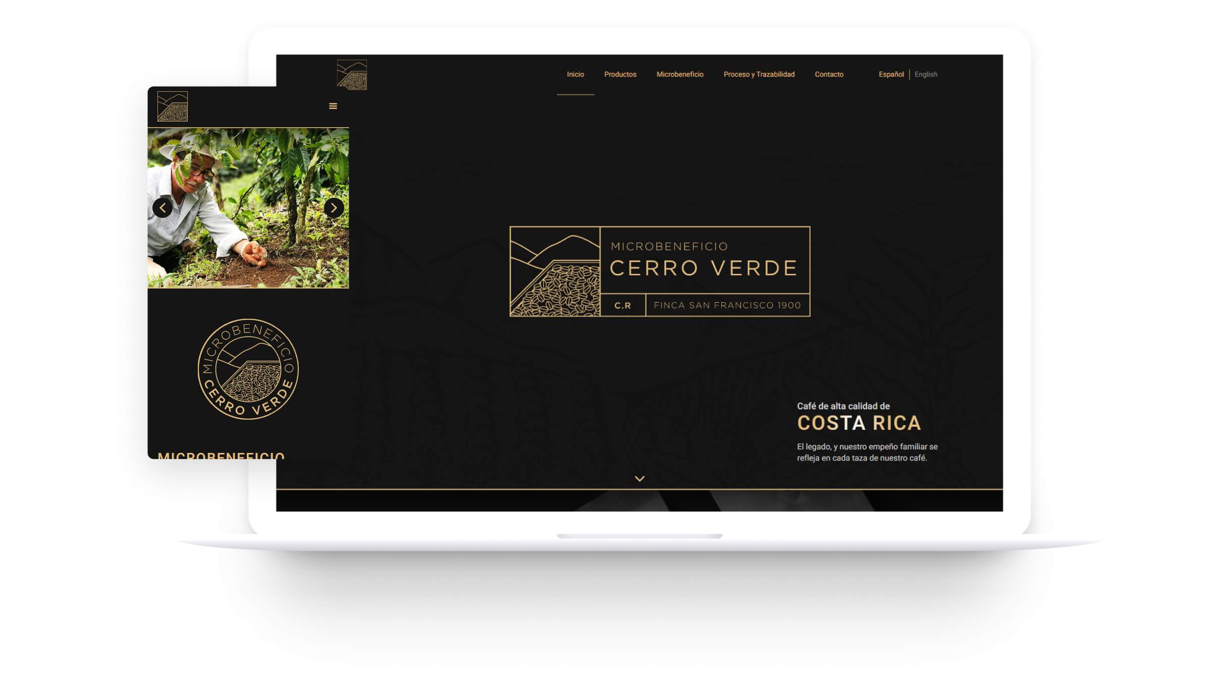 Diseño web para Cerro Verde.