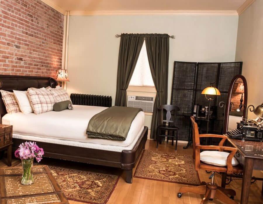 Hemingway suite at the Chamberlin inn, Cody Wyoming