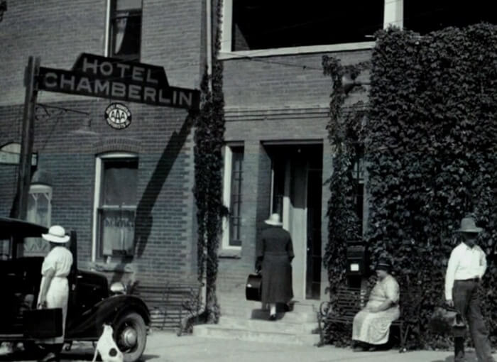 The Chamberlin inn old, historic photo of the building