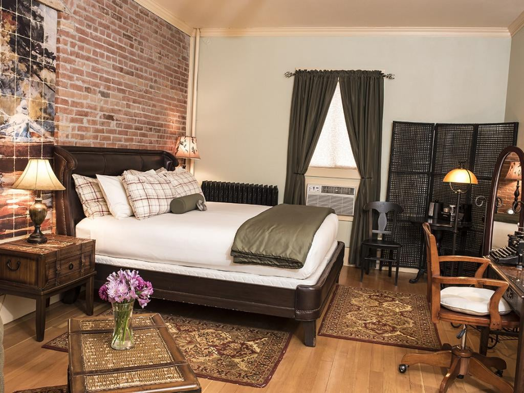 Adorned guestroom at the Chamberlin inn