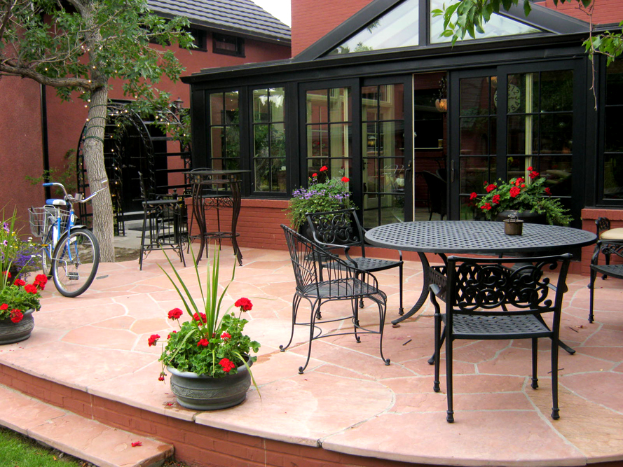 The patio at the Chamberlin inn is also used as a live music venue