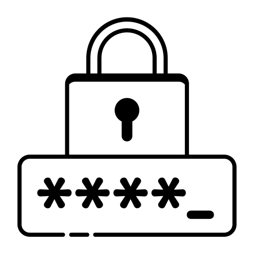 Icone d'un mot de passe sécurisé